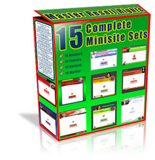 Product picture 15 Complete Minisite Sets With Master Resale Rights