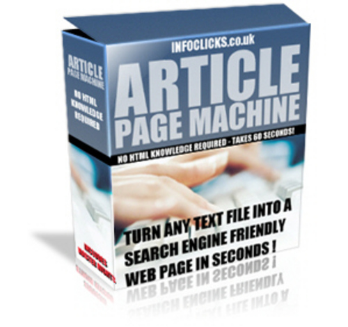 Product picture *new* Article Page Machine With Master Resale Rights
