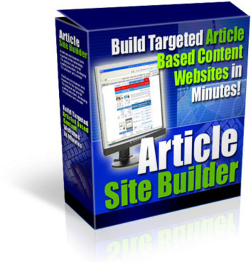 Product picture Article Site Builder - Build High-content Websites